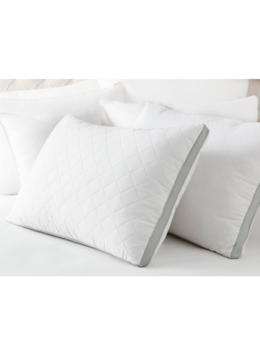 Madame Coco Klimalı Yastık - Beyaz / Açık Gri Beyaz